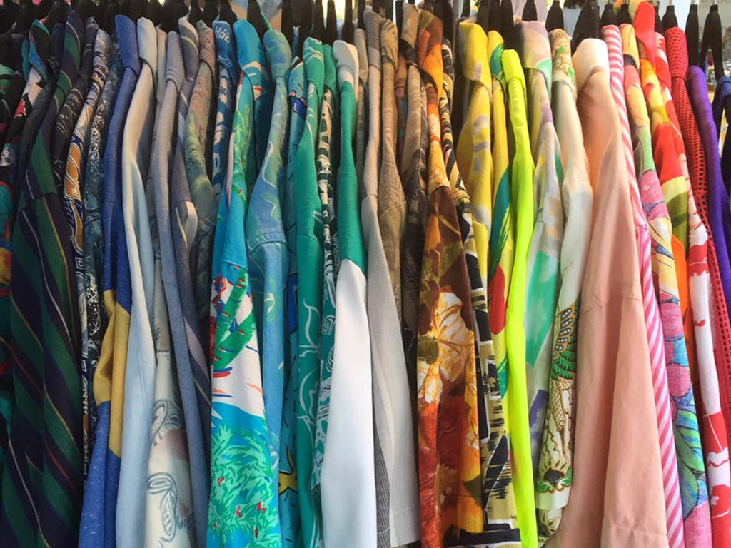 French 75 Vintage Thrifter Market Wynwood Art Walk Miami Clothing Rack