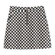 """CHECKERBOARD"" SKIRT"