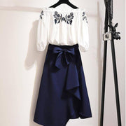"""SHANNON"" SHIRT AND SKIRT SET"