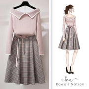"""REGINA"" SHIRT AND SKIRT SET"