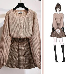 """PATTY"" SHIRT AND SKIRT SET"