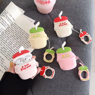 """STRAWBERRY & BANANA MILK"" AIRPODS & AIRPODS PRO CASES"
