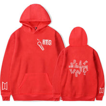 "Load image into Gallery viewer, ""BTS WHAT IS YOUR NAME"" HOODIE"