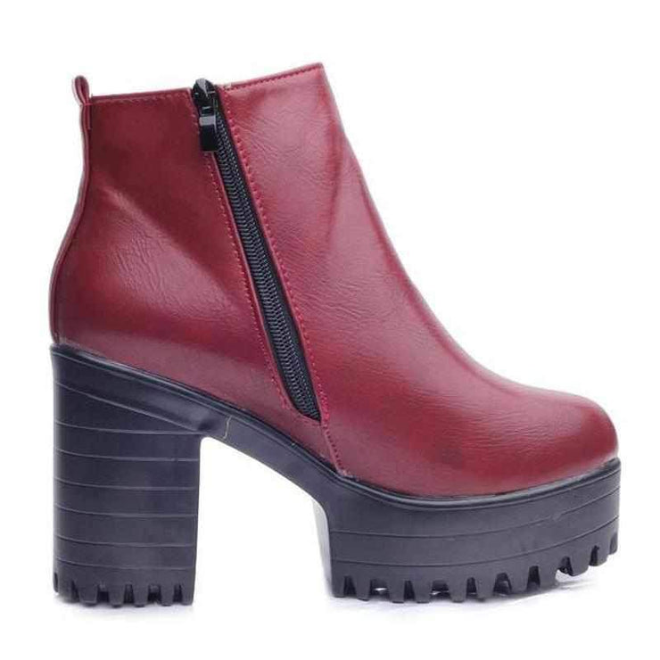 """CHUNKY"" ANKLE BOOTS"