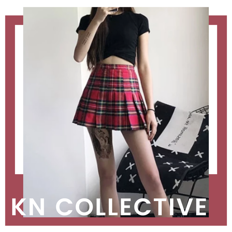 """ROYAL DOLL"" PLAID SKIRT"