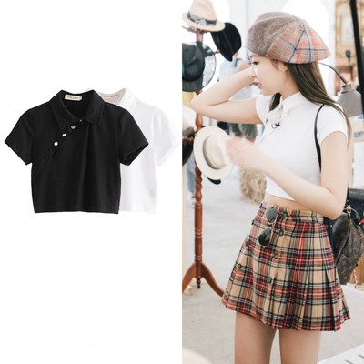"""BUTTON ME UP"" CROP SHIRT"