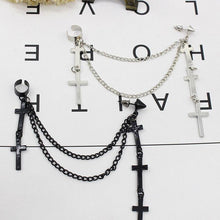 "Load image into Gallery viewer, ""CROSS TASSLE"" EARRINGS"