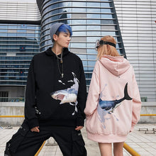 "Load image into Gallery viewer, ""LOVE SHARK"" HOODIE"