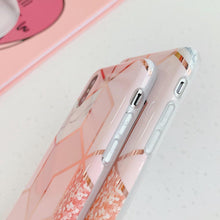 "Load image into Gallery viewer, ""PINK GEOMETRY"" IPHONE CASE"