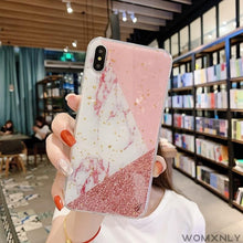 "Load image into Gallery viewer, ""PINK MARBLE"" IPHONE CASE"