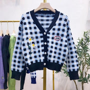 """PLAID BABE"" CARDIGAN"