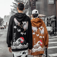 "Load image into Gallery viewer, ""COUPLE CRANES"" HOODIE"