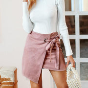 """SUEDE SPLIT"" SKIRT"