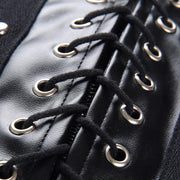 """LEATHER LACE UP"" SKIRT"