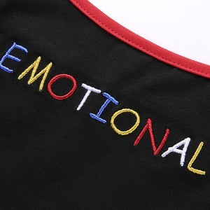"""EMOTIONAL"" CROPPED TOP"