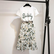 """BUBBLY"" SHIRT AND SKIRT SET"