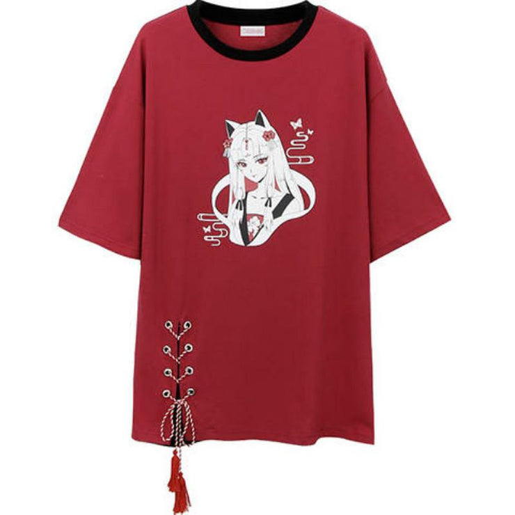 """FOX SPIRIT"" T-SHIRT DRESS"