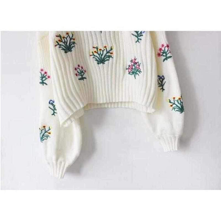 """BOUQUET"" KNITTED SWEATER"