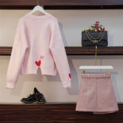"""BARBIE"" SWEATER AND SKIRT SET"