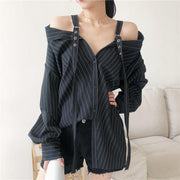 """VERTICAL"" BLOUSE"