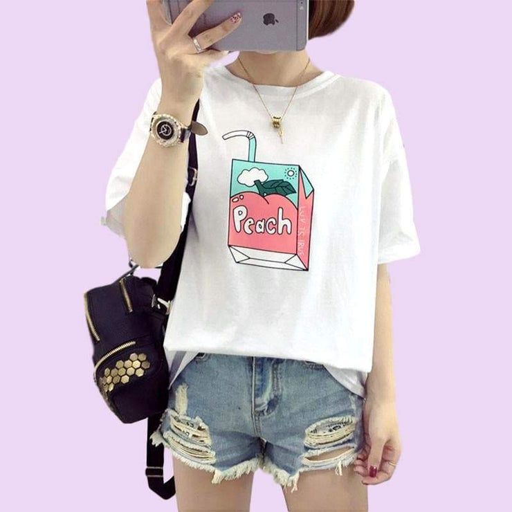 """PEACH DRINK"" T-SHIRT"