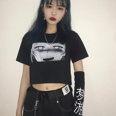 """SLEEPWALKING ROBOT"" CROP TOP / T-SHIRT"