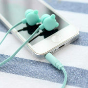 """BEAR SHAPED"" EARPHONES"