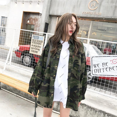 """CAMO"" COLLARED SHIRT"