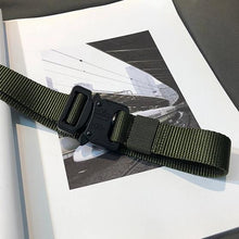 "Load image into Gallery viewer, ""ELEMENT"" CANVAS BUCKLE BELT"