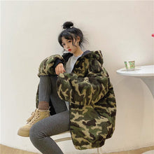 "Load image into Gallery viewer, ""FURRY CAMO"" REVERSIBLE JACKET"