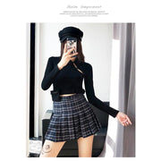 """PLAID LIES"" SKIRT"
