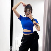 """MIDNIGHT STORY"" CROP TOP"