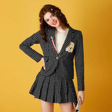 "Load image into Gallery viewer, ""CHIC"" BLAZER & SKIRT SET"