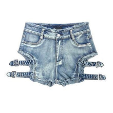 "Load image into Gallery viewer, ""ALL YOURS"" DENIM SHORTS"
