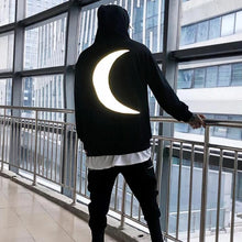 "Load image into Gallery viewer, ""CRESCENT MOON"" REFLECTIVE HOODIE"