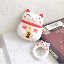 "Load image into Gallery viewer, ""LUCKY CAT"" AIRPODS & AIRPODS PRO CASES"