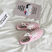 """CHECKERED ME PINK"" SHOES"