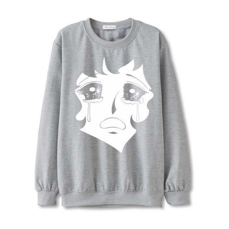 """CRYING"" SWEATER"