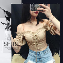 "Load image into Gallery viewer, ""BELLA"" OFF SHOULDER TOP"
