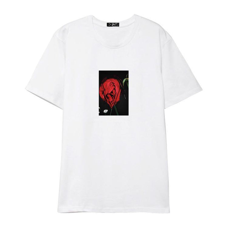 """RED ROSE"" T-SHIRT"