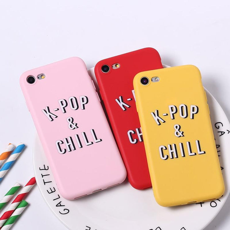 """K-POP & CHILL"" IPHONE CASE"