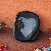 """TRANSPARENT LOVE"" LEATHER BACKPACK"