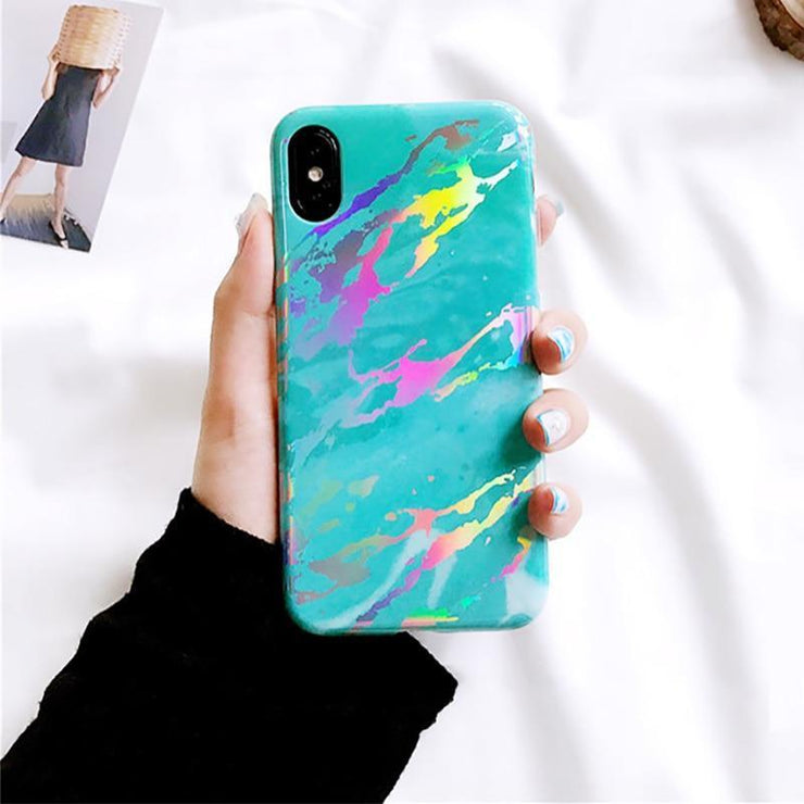 """LASER MARBLE"" IPHONE CASE"