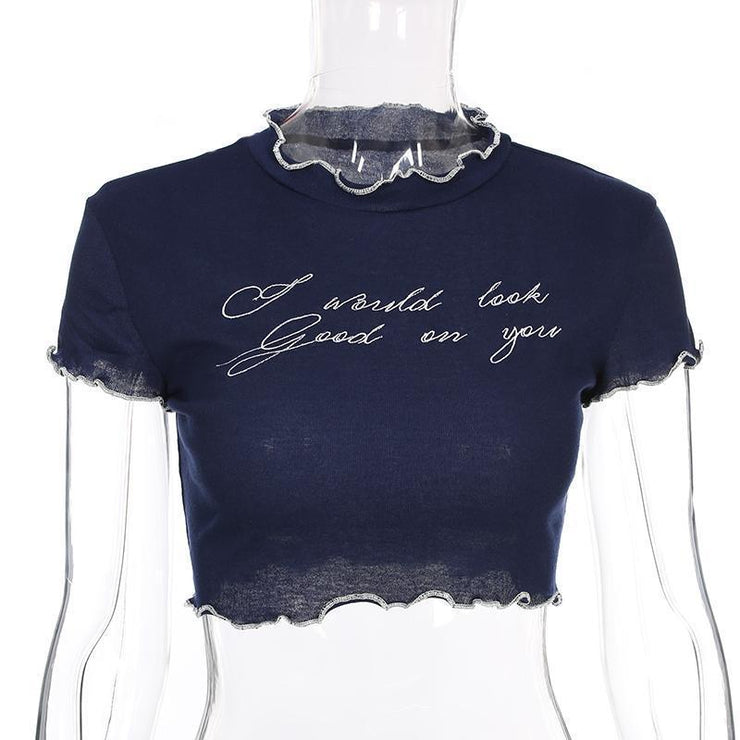 """I WOULD LOOK GOOD ON YOU"" CROP TOP"