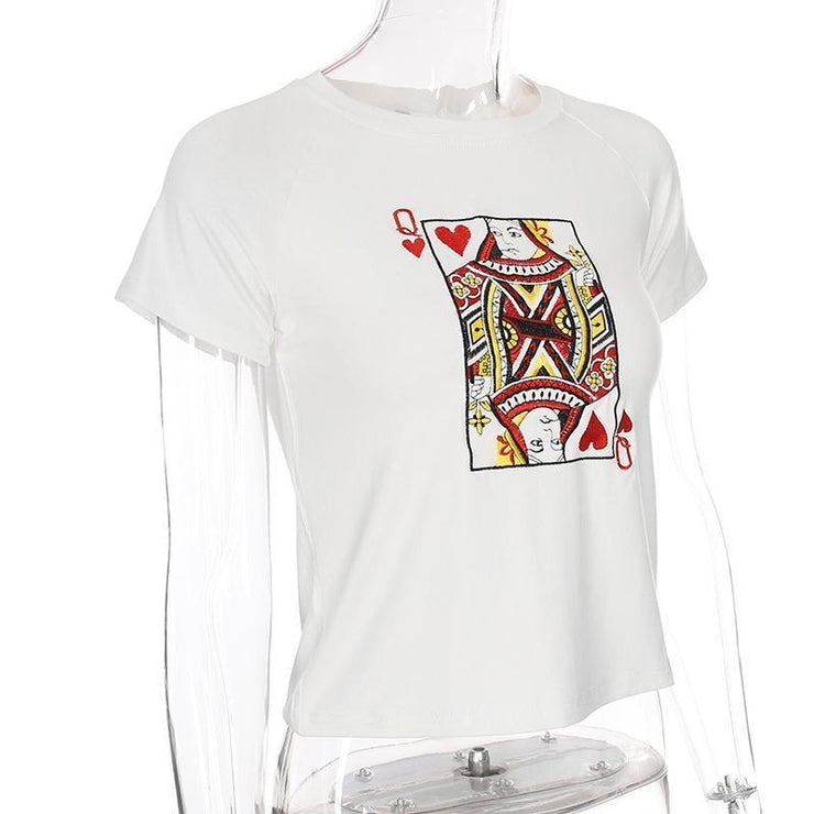 """QUEEN OF HEARTS"" SHIRT"