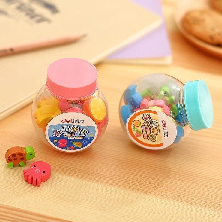 """FRUITY AND ANIMAL"" ERASERS"