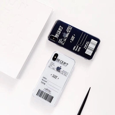 """B&W RECEIPT"" IPHONE CASE"