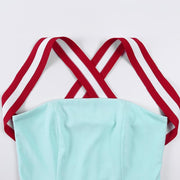 """RED-WHITE STRIPED"" TWO-PIECE"