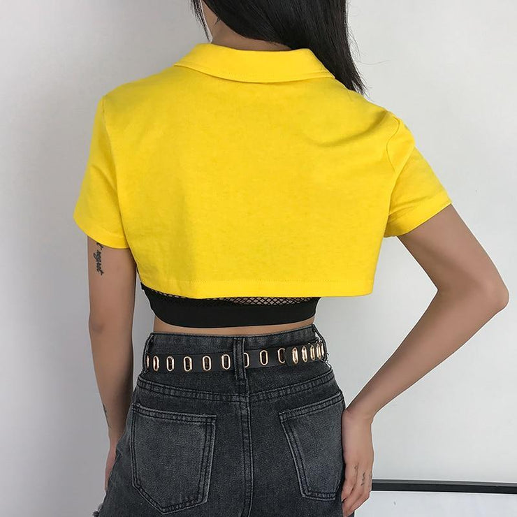 """YELLOW"" CROP TOP"