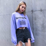 """SELF-PORTRAIT PURPLE"" CROP TOP"